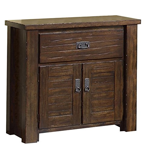 Cheap Progressive Furniture Trestlewood Nightstand, 31″ x 17″ x 31″, Mesquite Pine