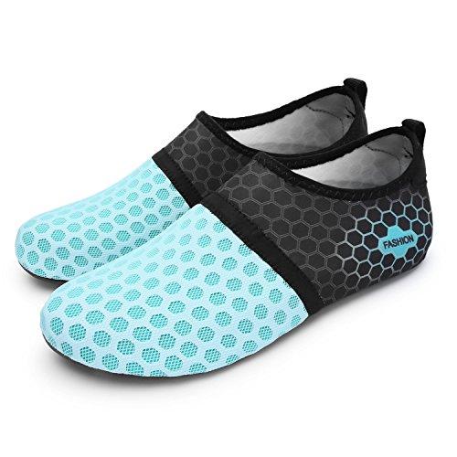 Run Zapatos Run Swim para Agua Dot L de Zapatos Piel Dive Beach descalza Surf Unisex de Yoga blue UFqXvw1