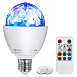 Disco Ball Light LinkMate 3W E27 RGB Disco Stage Bulb Sound Activated LED Strobe Light Bulb Party Light with Remote Control-Ideal for Wedding DJ Christmas Home Decorative