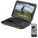 "Portable DVD Player CD Player with Car Headrest Mount Holder Swivel 10"" Monitor"