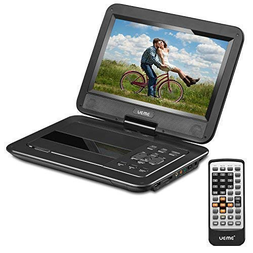 UEME Portable DVD Player CD Player with 10.1 Inch LCD Screen