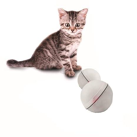 Juguete de pelota interactivo para gatos, Juguete de ejercicio de luz rodante automática para gatito