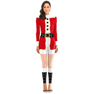 meilleur endroit prix moderne et élégant à la mode ZYUEER [Cadeaux De NoëL] Femme Jumpsuit Pyjama Combinaison ...