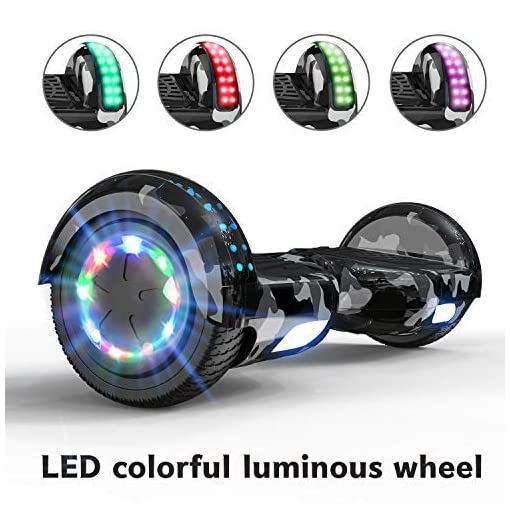 MARKBOARD Hoverboard, Bluetooth 6.5 Pouces Self Balancing Scooter Overboard Enfant Gyropode Hoverboard Tout terrains avec Roues Flash LED E-Scooter Auto-équilibrage,Cadeau pour Les Enfants
