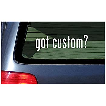 White sticker window decal vinyl custom personalized customized text lettering
