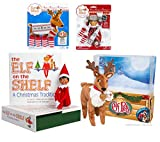 Elf on the Shelf Complete Holiday Gift Bundle: Boy Scout Elf (Brown Eyes), Cuddly Plush Reindeer Elf Pet, Christmas Tradition Storybook, A Reindeer Tradition Storybook, and (2) Matching Polar Pattern Winter Wear Sets