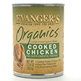 Evanger's Grain Free Organic 100-percent Cooked Chicken for Dogs, 12.8 ounce can, pack of 12