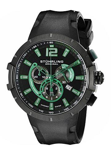 stuhrling-original-mens-224a335671-aviator-phoenix-grand-quartz-chrono-tachymeter-date-black-watch