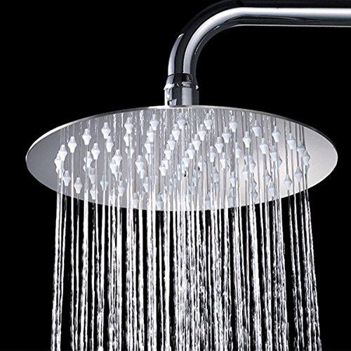 Zovajonia 8 Rainfall Shower HeadUltra-thin Stainless Steel High Polish ChromeLuxury Durable Rain ShowerheadRain Style Waterfall Effect