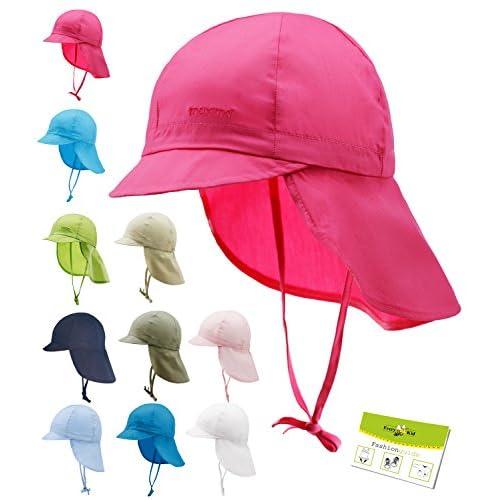 e55ce5936 Maximo Sombrero De La Protección Del Cuello Uv Gorros Con Cintas Unión  Casquillo Niñas Niño Verano