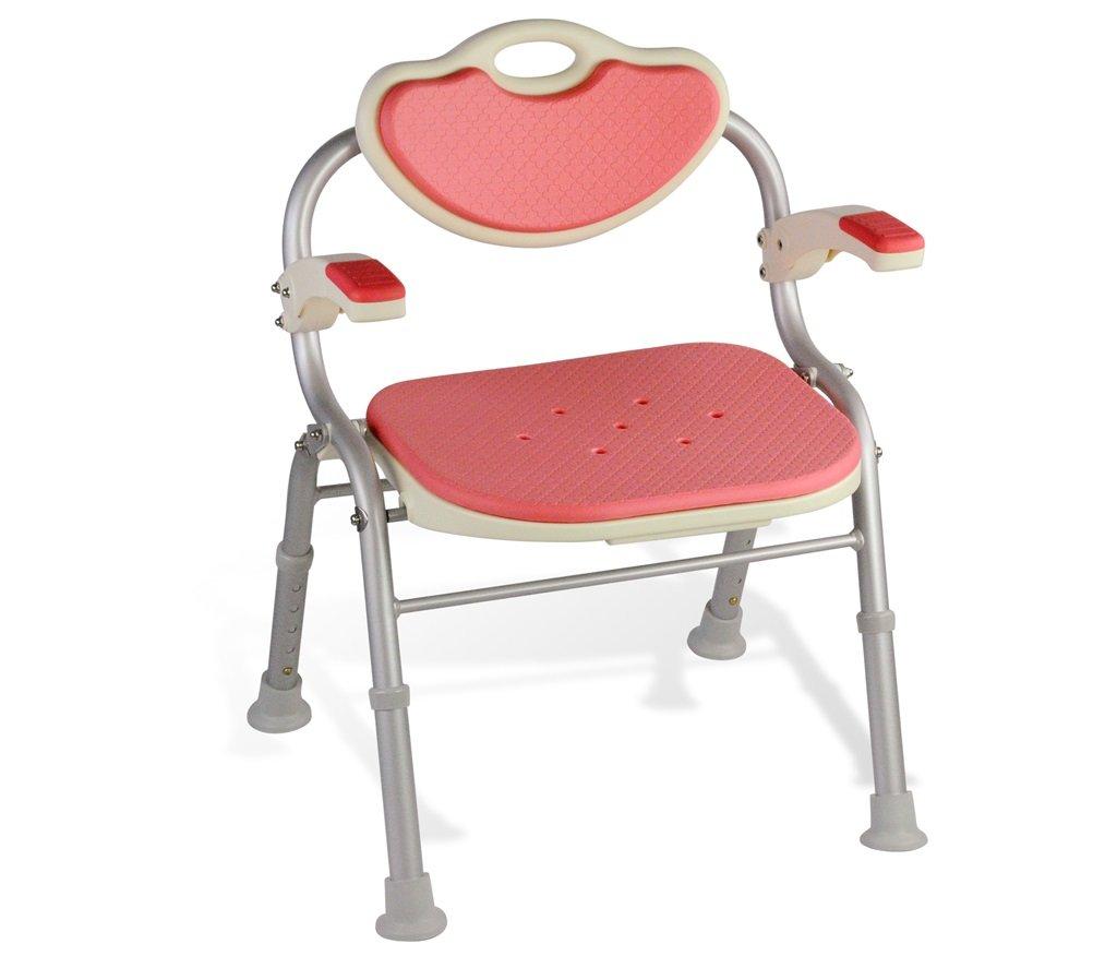 シャワー/バススツールアルミ合金シャワー座席椅子障害援助ノンスリップシャワーチェア背もたれとハンドルバスベンチ付きの高齢者/障害者/妊婦のための5つの高さで調整可能 (色 : #1) B07F3XKHKD #1 #1