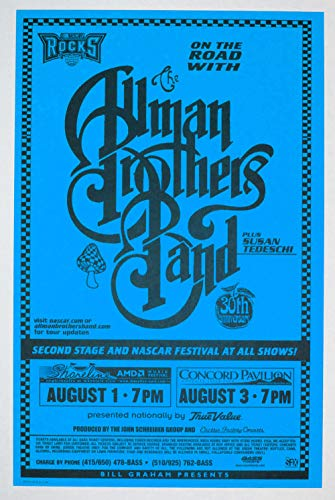 Allman Brothers Band 1999 Aug 1 Shoreline Amphitheatre Poster