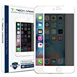 Tech Armor Privacy Edge to Edge Ballistic Glass Screen Protector for Apple iPhone 6S/iPhone 6 (4.7-inch) (White) [1-Pack]
