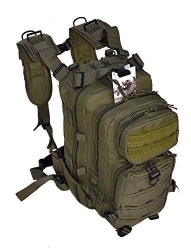 17″ Level 3 OD Army Green Tactical Military Style Assault Pack Backpack w/ Molle