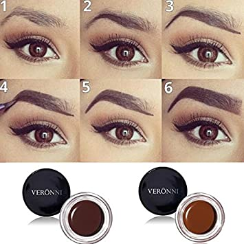 175159a59f1 Amazon.com : VERONNI 8 Colors No Shading Durable Eyebrow Pomade Gel  Waterproof Maquiagem Makeup Accessories Eye Brow Cream Eyebrow Enhancer  (08) : Beauty