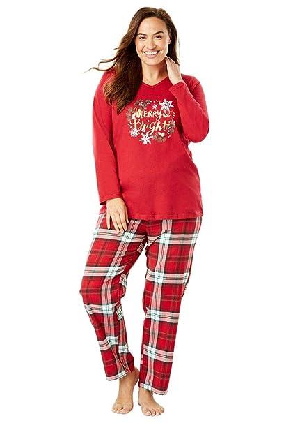 d05dd37fa991 Dreams   Co. Women s Plus Size Cozy Pajama Set at Amazon Women s ...