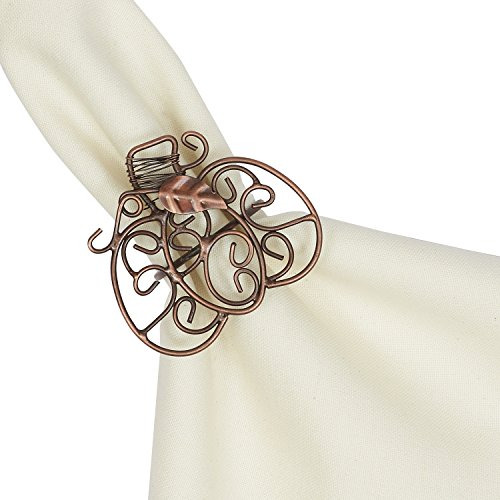 Fancy Scroll Ring (DII Set of 6 Napkin Rings, Pumpkins Scroll - Perfect for Fall, Thanksgiving, Dinner Parties or Special Occasions)