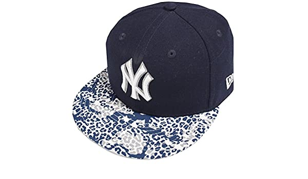 6f4c9474ed3 New Era New York Yankees Visor Print 59fifty 5950 Fitted Cap Navy Kappe Mens  at Amazon Men s Clothing store
