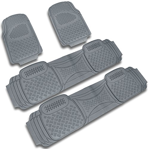 Spec-D MAT-4001GRY Gray All Weather Floor Mats 4pcs (2007 Tahoe Floor Mats Oem compare prices)