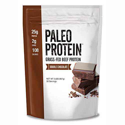 Paleo Protein Double Chocolate Powder (2lbs) (2 Carbs) (30 Servings) (Grass Fed Beef)