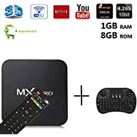 [Free Wireless I8 Mini Keyboard] 2017 DIGOU MX Pro Android TV Box Amlogic S905x Chipset Android 6.0 Lollipop OS TV Box Quad Core 1G/8G 4K with WiFi