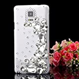 ACC5Star(TM) Extreme Duluxy Bling Diamond Crystal Geometry Rhinestone Clear Case Cover Skin for Samsung Galaxy Note 4 + High Quality Random Color Stylus + 10*15 Cm Green Soft Clean Cloth with Logo by efriend