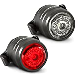 Cycle Torch Bolt Combo - USB Rechargeable Bike Light Front and Back| Safety Bicycle LED Headlight & Rear Tail Light | Bike Lights Set, Easy to Install for Men Women Kids (2 PC)