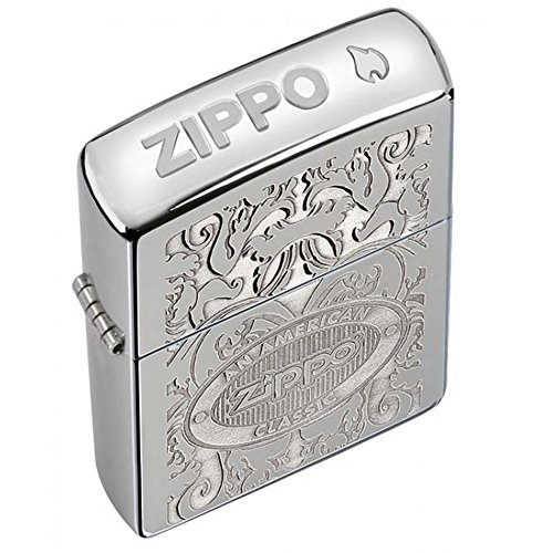Crown Stamp High Polish Chrome Zippo Outdoor Indoor Windproof Lighter Free Custom Personalized Engraved Message Permanent Lifetime Engraving on Backside