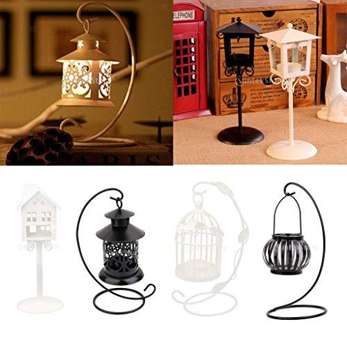 (BROSCO Retro Floor Candleholder Mood Tea Light Candlestick Wedding Christmas Black)