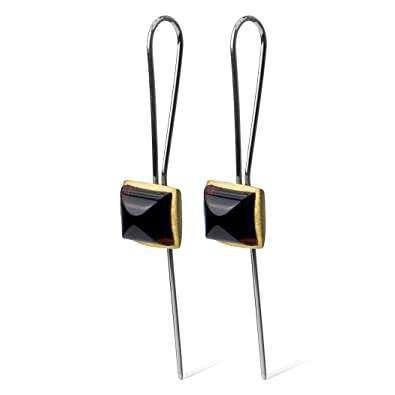 Fine Quality Cherry Amber Sterling Silver Cube Earrings m7HrLQ