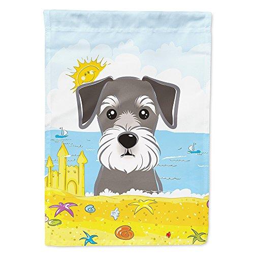 - Caroline's Treasures BB2074GF Schnauzer Summer Beach Garden Flag, Small, Multicolor