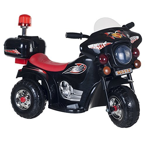 Lil' Rider Super Sport Three Wheeled Motorcycle Ride-On - Black by Lil' ()