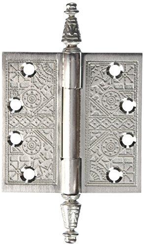 Deltana DSBP44U3-UNL Solid Brass Ornate 4-Inch x 4-Inch Square Corner Hinge