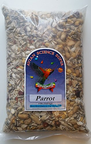 Volkman Avian Science Super Parrot Bird Food Seed Mix (8 LB) - Large Striped Sunflower Seeds