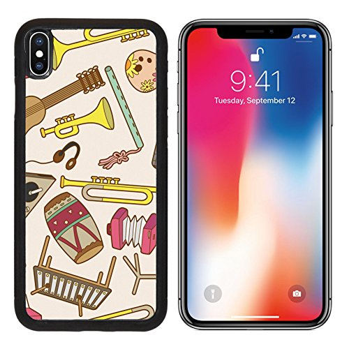 MSD Premium Apple iPhone X Aluminum Backplate Bumper Snap Case IMAGE ID: 8523357 seamless music pattern