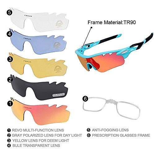 Homme et Polarized Sunglasses buée Vent Lunettes pour en Riding Sport Lunettes Bleu LBY Anti Lunettes Plein Coupe air de Soleil Bleu de Couleur Z76YnHwqA