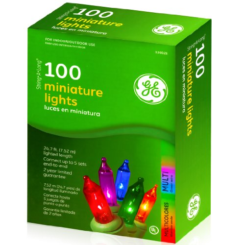 GE Miniature Bright Multi Color 25 Feet