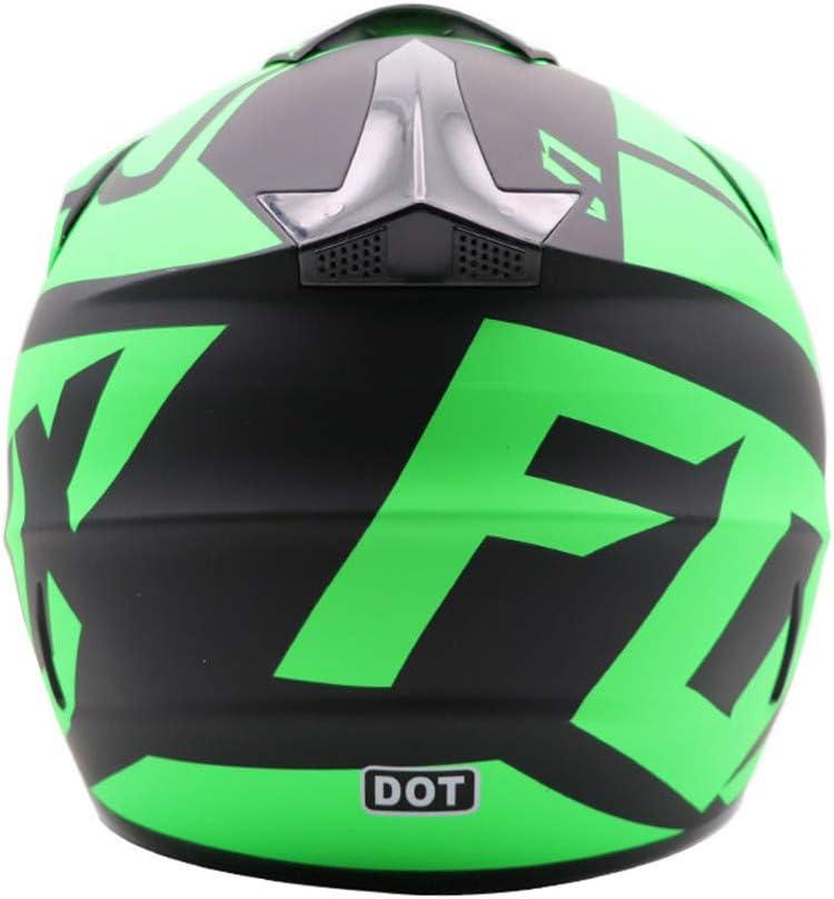Motocross Racing Bike Helm Vier Jahreszeiten universal Motorradhelm Handschuhe, Brille, Maske, 4-teiliger Satz Jugend Kinder Dirt Bike Helme