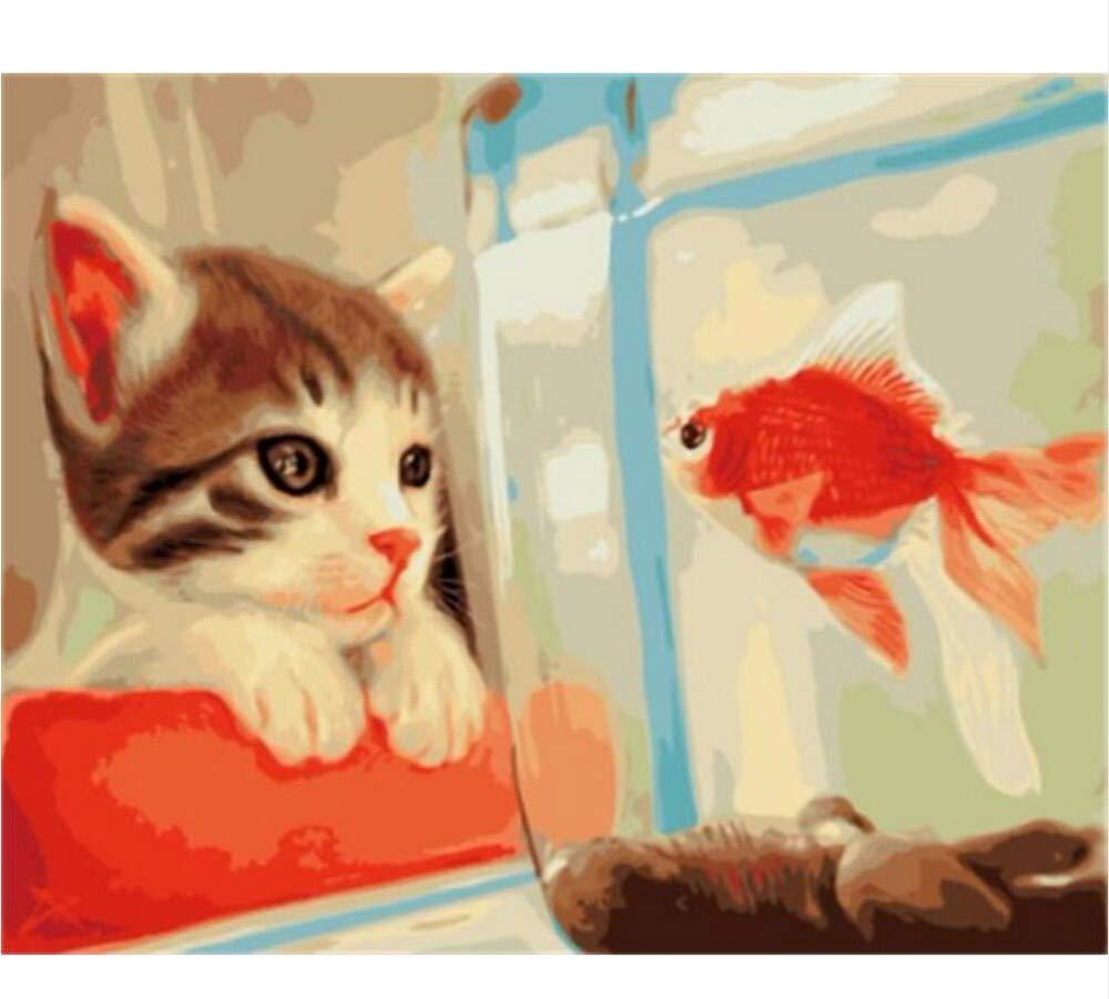 Waofe  Gerahmte Bilder Malen Nach Zahlen Tierhandarbeit Leinwand Ölgemälde Wohnkultur Für Wohnzimmer B07PMX2J1P | Online Kaufen
