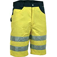 Cofra 40-00V07400, Pantalones de Seguridad Para Hombre, Gelb/Marine, 44