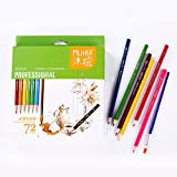 Guodanqing 72 Color Water-Soluble Color Pencils Students Drawing Art Pencils Paper Box with Environmental Colored Lead (Color : Green)
