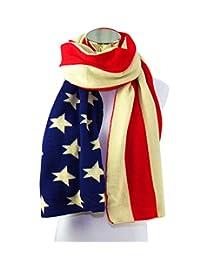 REINDEAR Knit long American Flag Scarf US Seller