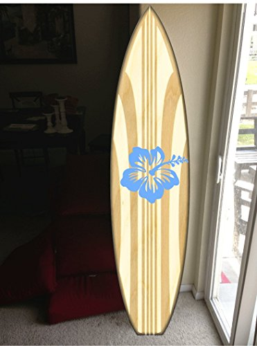 wall hanging surf board surfboard decor hawaiian beach surfing beach decor by Rad Grafix