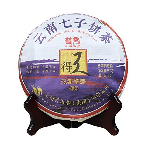 (2013 Tian De Pu-erh Tea PURSUE Yunnan Chi Tse Beeng Cha 357g Ripe Shu Puer Shou Pu Er Tea Cake)