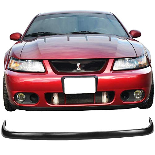 Front Bumper Lip Fits 2003-2004 Ford Mustang SVT | Factory Style Black PU Front Lip Finisher Under Chin Spoiler Add On by IKON MOTORSPORTS ()