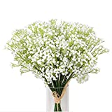 Kaimao 9 Pcs Artificial Gypsophila Flower / Fake Beautiful Flower for Wedding Party Home Decoration - White