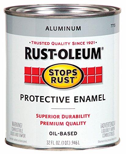 Rust-Oleum 7715502 Protective Enamel Paint Stops Rust, 32-Ounce, Metallic Aluminum