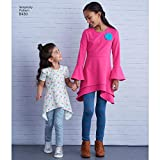 Simplicity US8430K5 Girl's Leggings and Knit Tunic