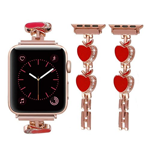 Snado bling bands compatible apple watch band 38mm women, rhinestone luxury diamond stainless steel iwatch band compatible apple watch nike, sports, series 3, 2, 1