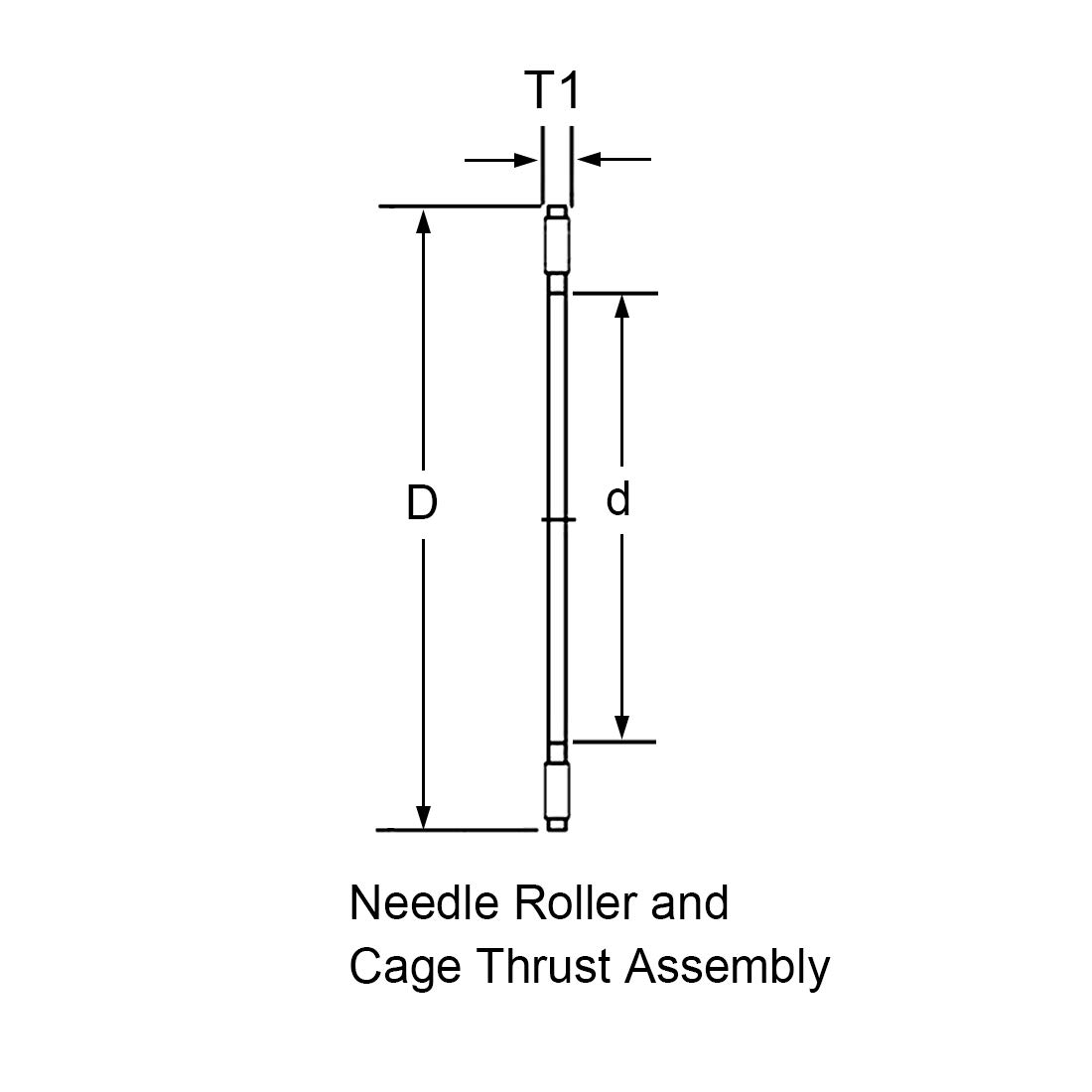 uxcell NTA1220 Needle Roller and Cage Thrust Assembly 3//4-inch Bore 1-1//4-inches OD 5//64-inch Width 14000rpm Limiting Speed